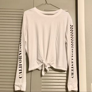Hollister Tops - Hollister Long Sleeved Holographic White Shirt